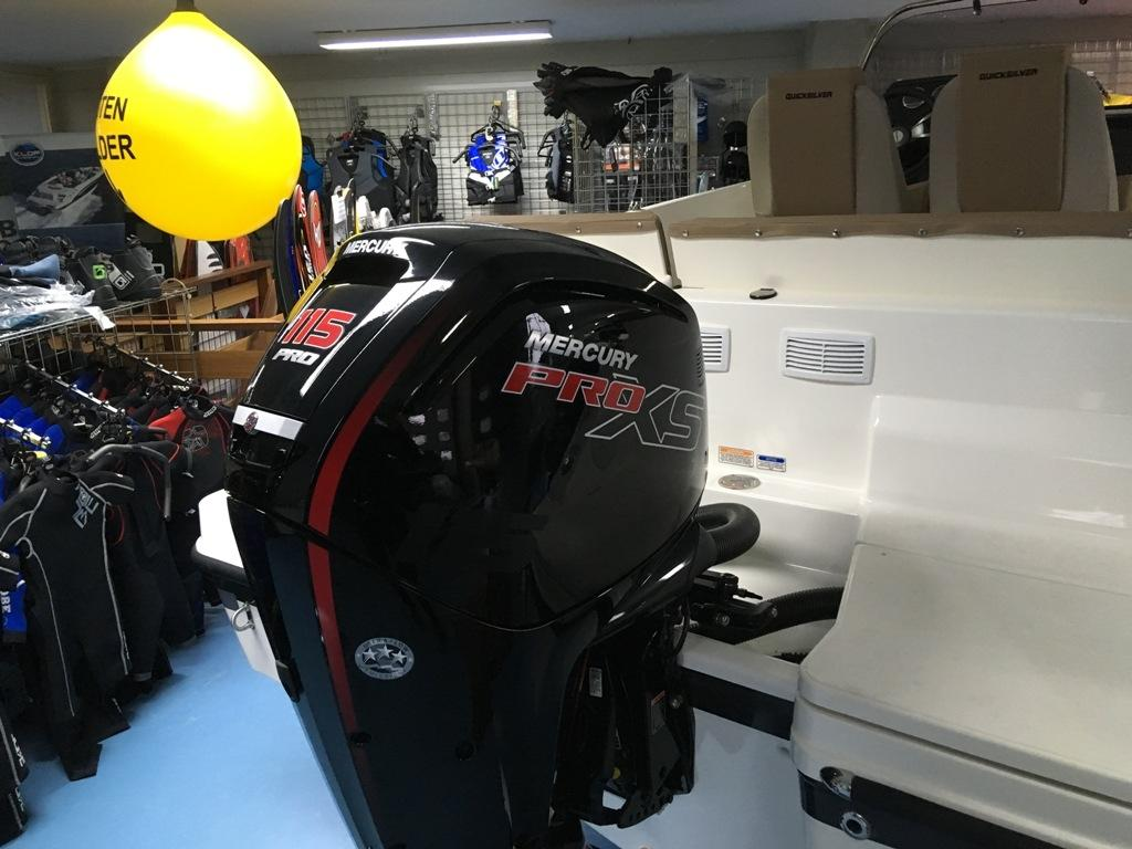 Quicksilver 605 activ open met Mercury F115 pro xs 19