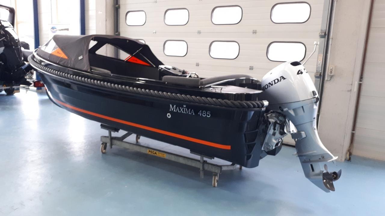 Maxima 485 met honda BF40 lrtu 2