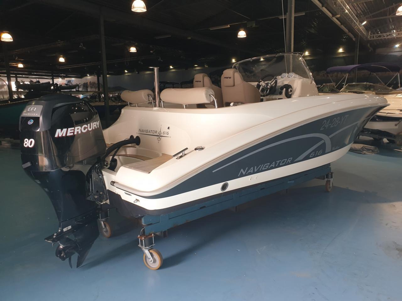 Prins 616 Navigator met Mercury 80 pk 2